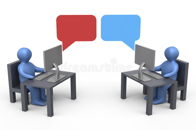 Conversa ilustração do vetor
