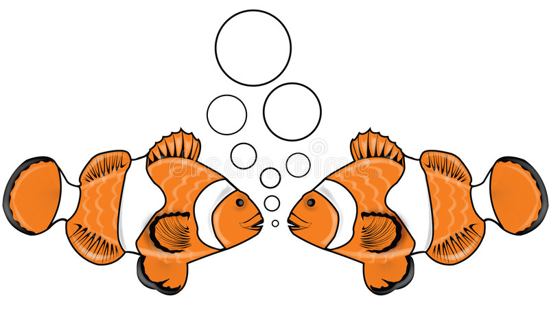 Conversa 3 dos peixes fotos de stock royalty free
