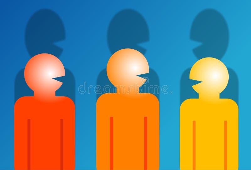 Download Conversa ilustração stock. Ilustração de se, bisbolhetice - 50901