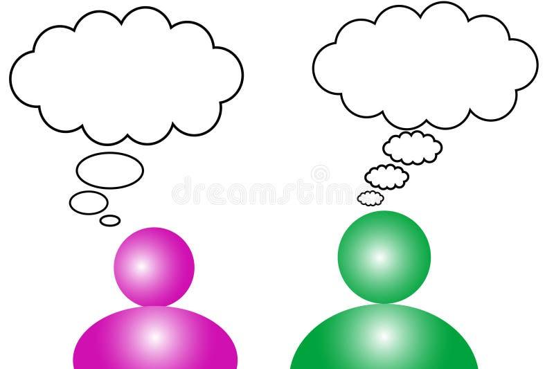 Conversa ilustração stock