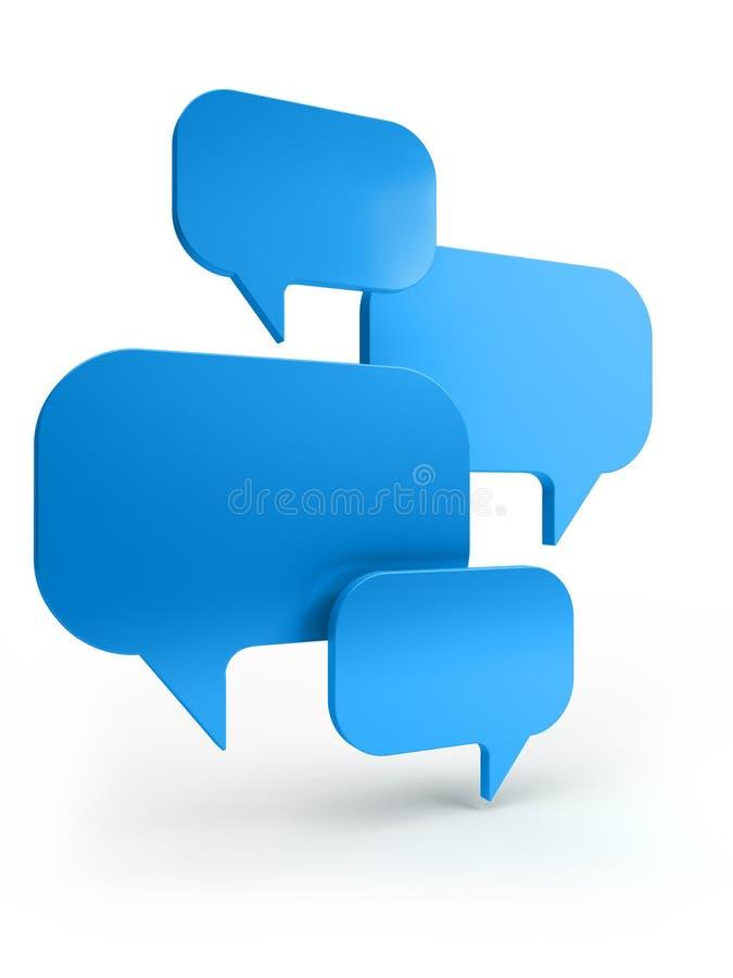 Conversa Da Bolha Imagens de Stock Royalty Free