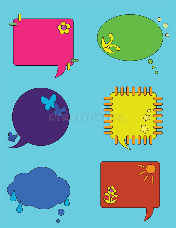 Conversa da bolha ilustração royalty free