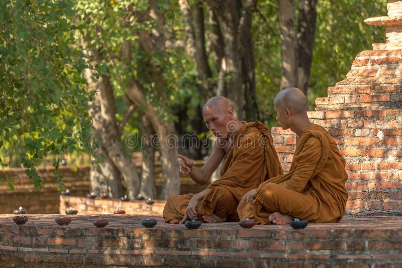 Conversa de Dharma imagens de stock