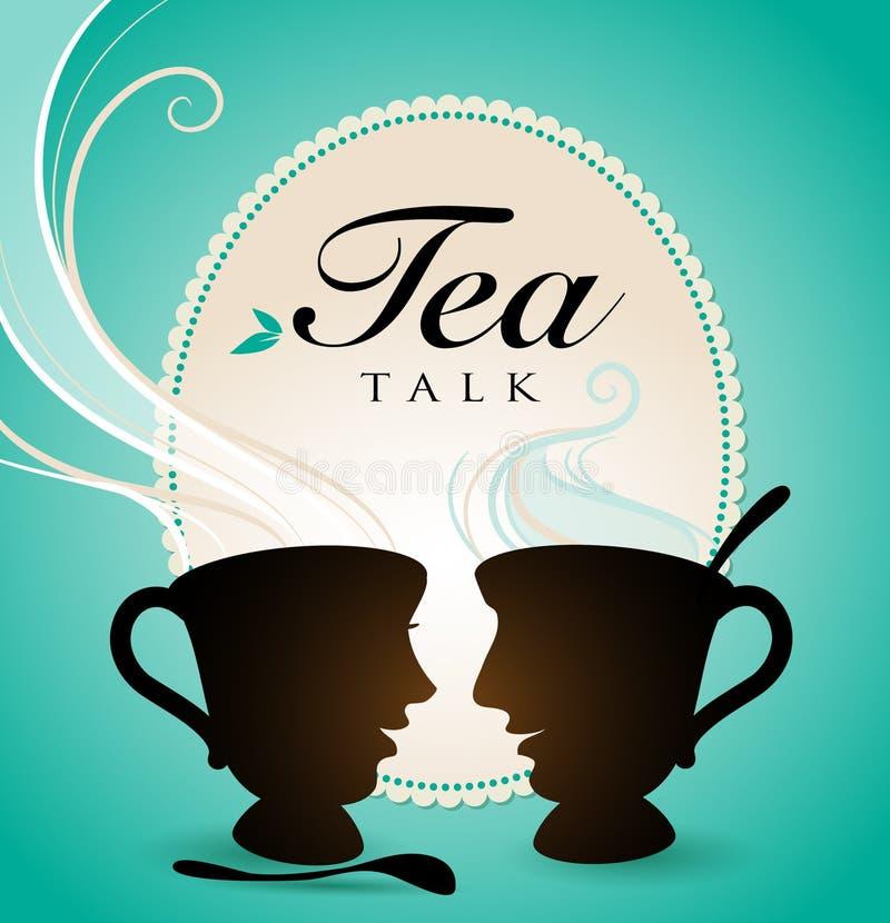 Conversa do chá ilustração royalty free