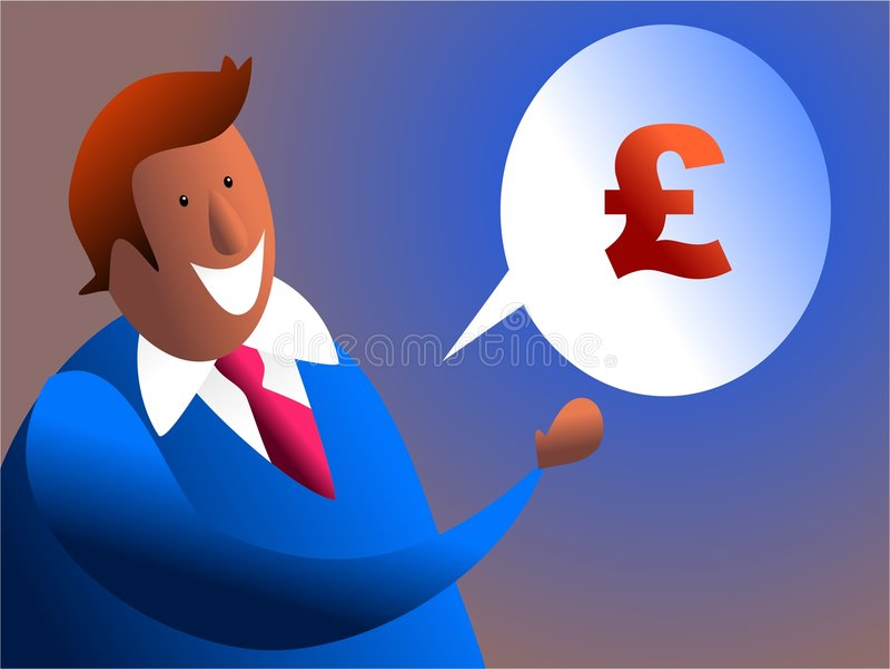 Conversa do dinheiro ilustração stock