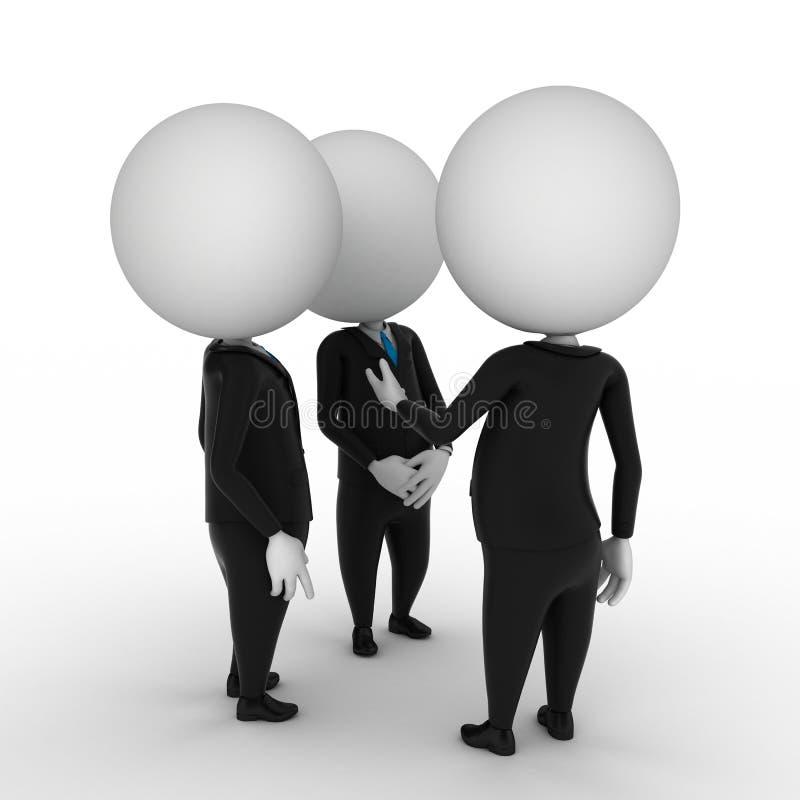 Conversa do negócio ilustração do vetor