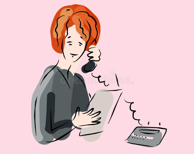 Conversa do telefone ilustração do vetor