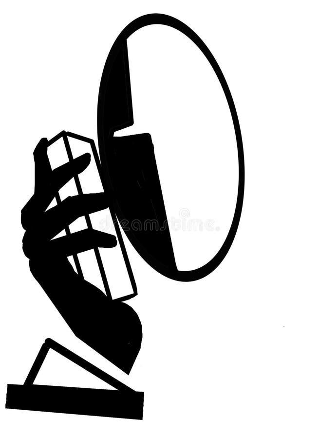 Conversa do telefone ilustração stock