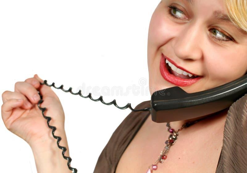 Conversa do telefone imagem de stock