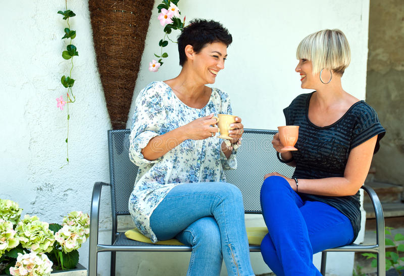 Conversa dos amigos da mulher imagem de stock royalty free