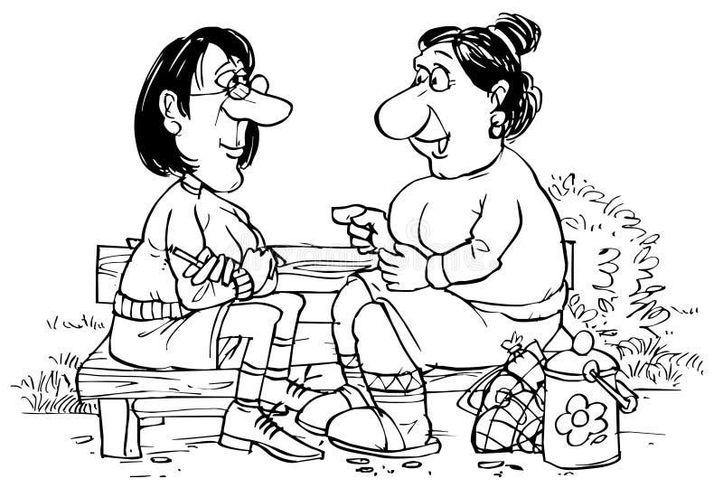 Conversa Heart-to-heart ilustração stock