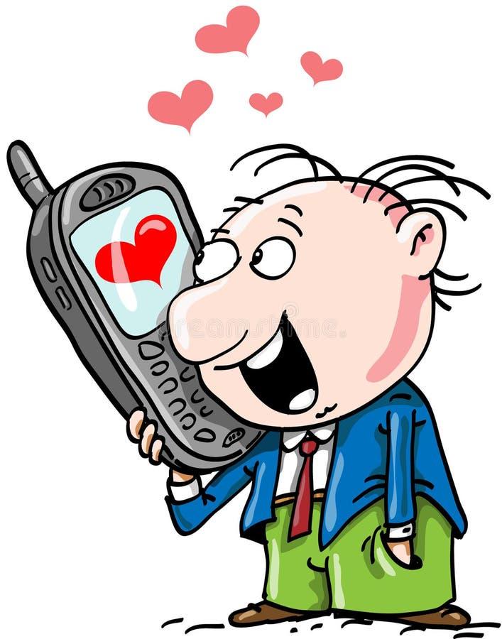 Conversa telefónica ilustração do vetor