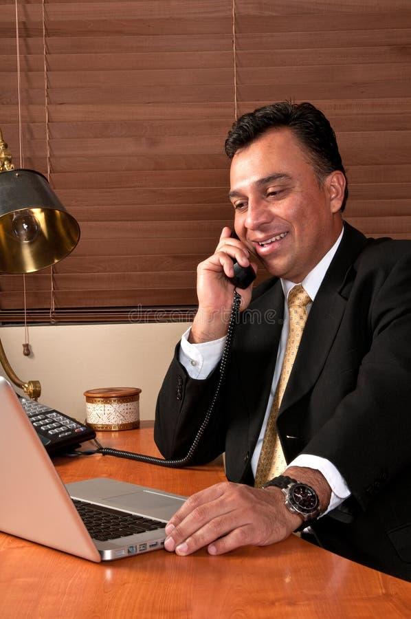 Conversa telefónica imagem de stock