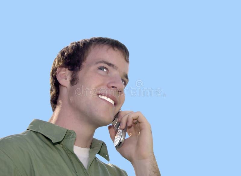 Conversa telefónica da pilha imagens de stock royalty free