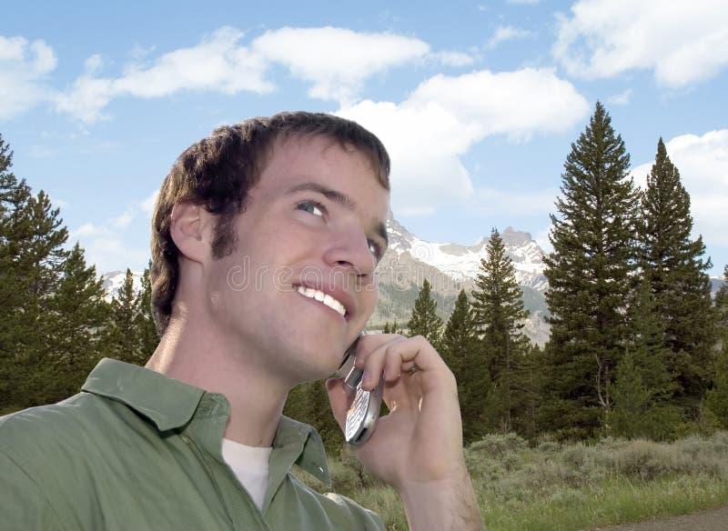 Conversa telefónica da pilha fotos de stock royalty free