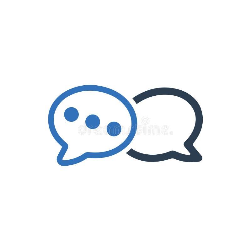 Conversación, icono de la charla ilustración del vector