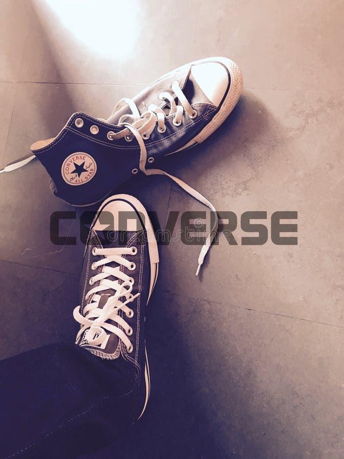 Conversan todas las zapatillas de deporte de la estrella imagen de archivo libre de regalías
