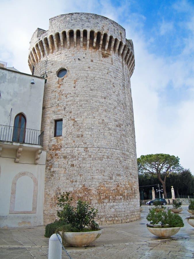 Conversano castle. Apulia. This is the Aragonese Castle of Conversano in Apulia stock photos