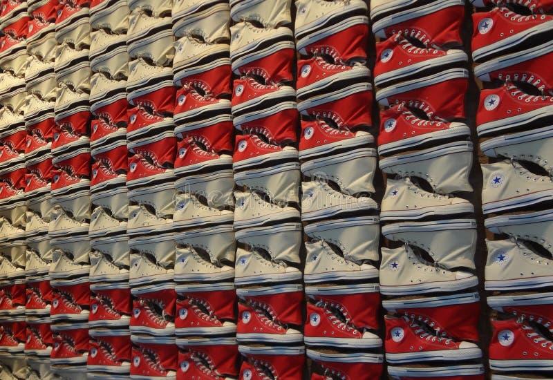 Conversano tutte le scarpe delle stelle fotografia stock