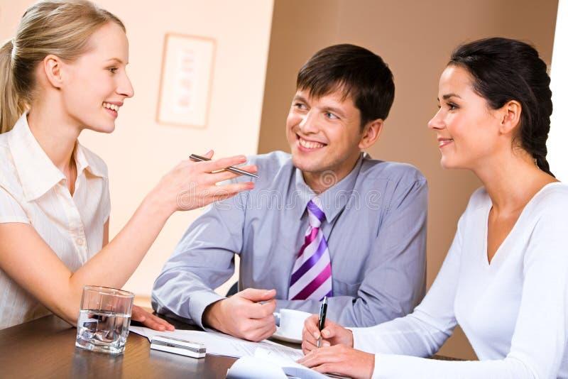 Conversation photo stock