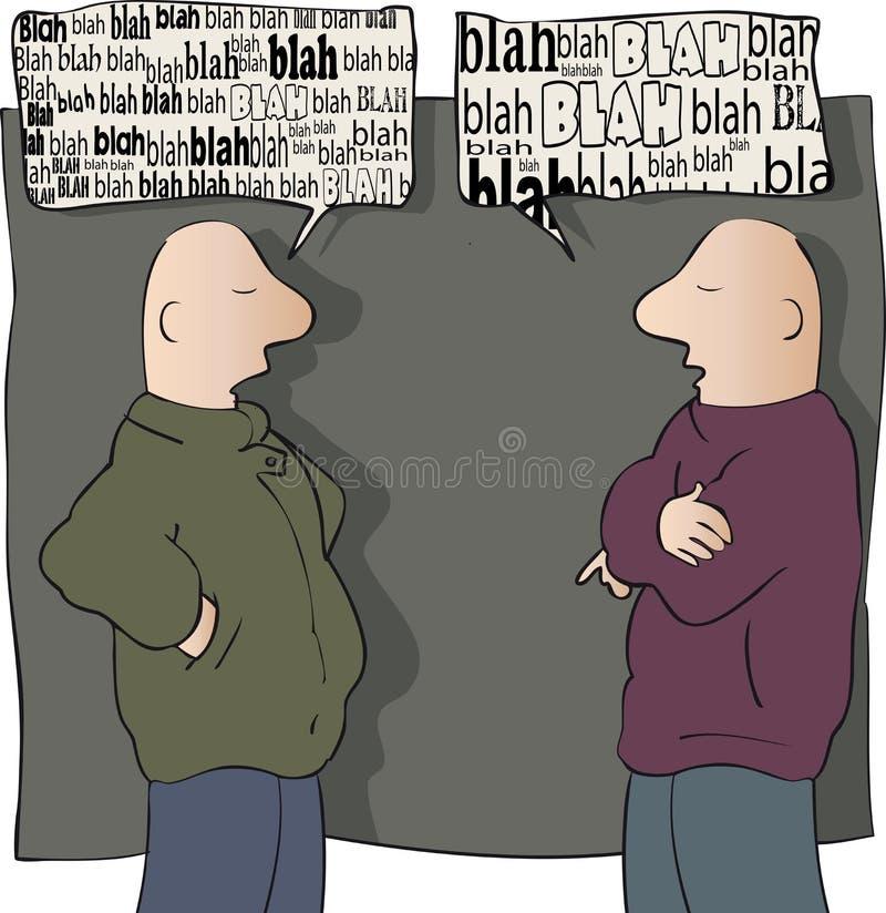 conversation illustration de vecteur
