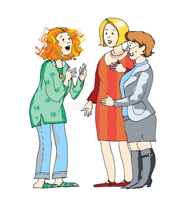 Conversation illustration stock