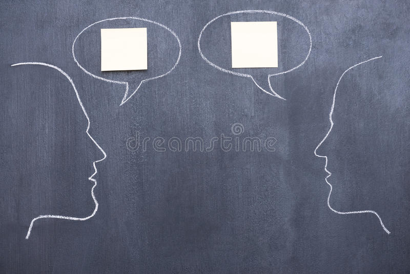 Conversation. royalty free stock photography