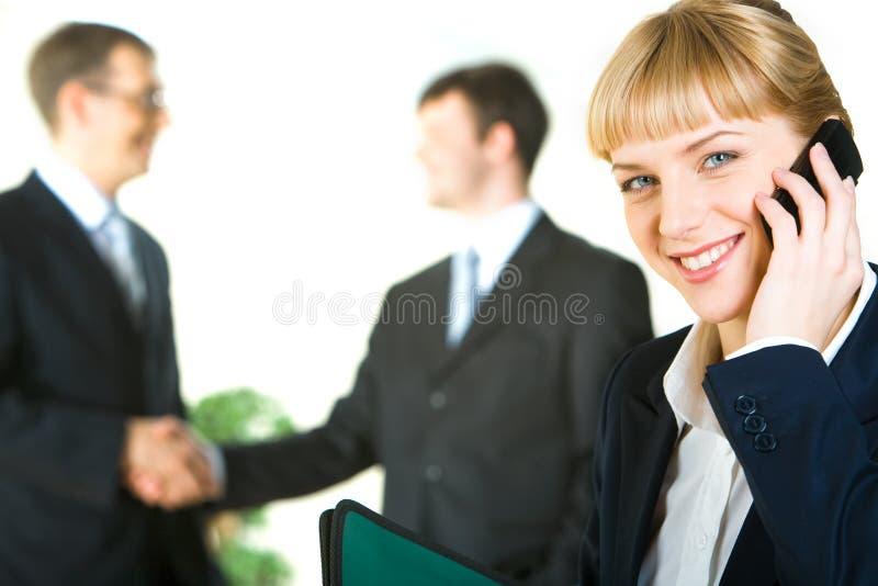 Conversation d'affaires photographie stock