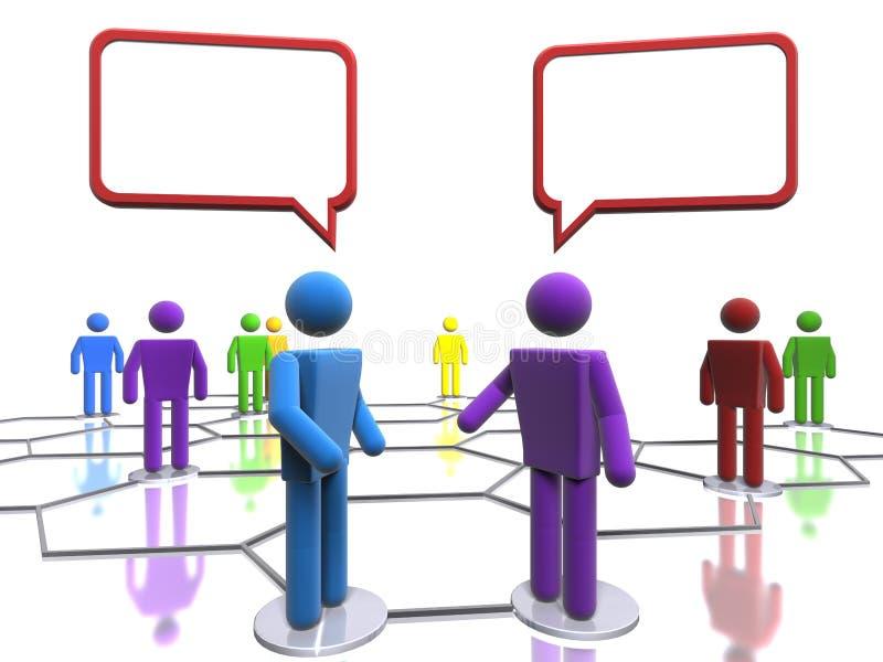 Conversation d'affaires (avec l'accent sur la diversité) illustration de vecteur