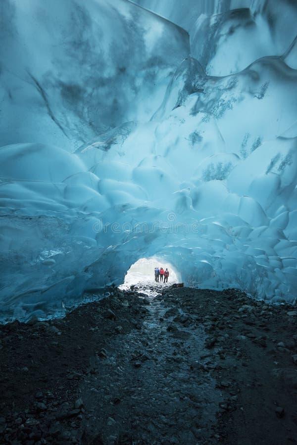 Conversation de caverne de glace photos libres de droits
