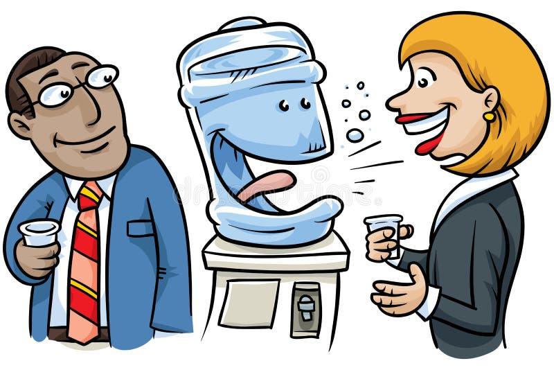 Conversation de Watercooler illustration de vecteur