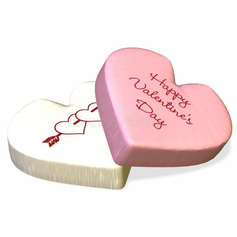 Conversation Heart - Happy Valentine's Day. Loving series of conversation hearts. Happy Valentine's Day stock illustration
