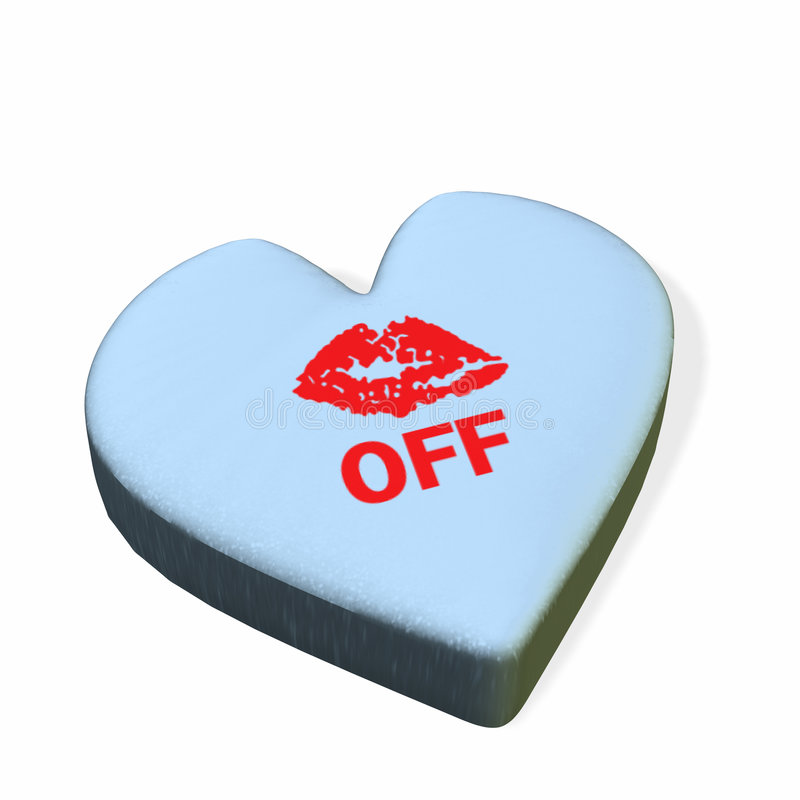 Conversation Heart - Kiss Off Royalty Free Stock Image
