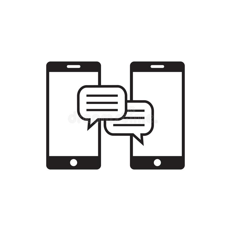 Conversation icon graphic design template vector illustration stock illustration