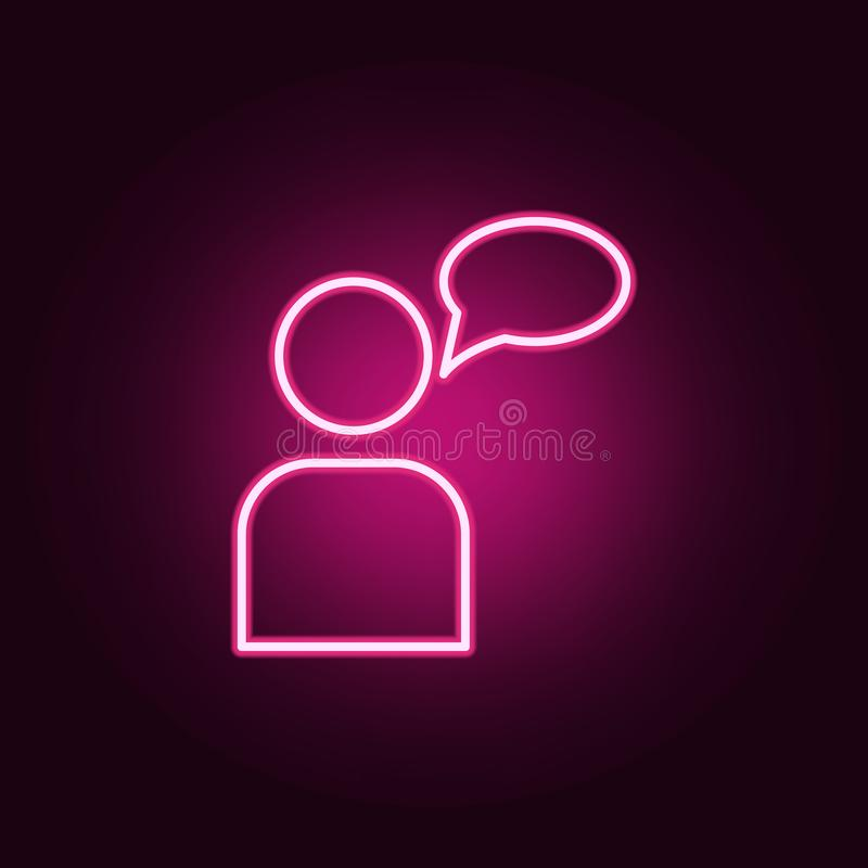 conversation neon icon. Elements of web set. Simple icon for websites, web design, mobile app, info graphics royalty free illustration