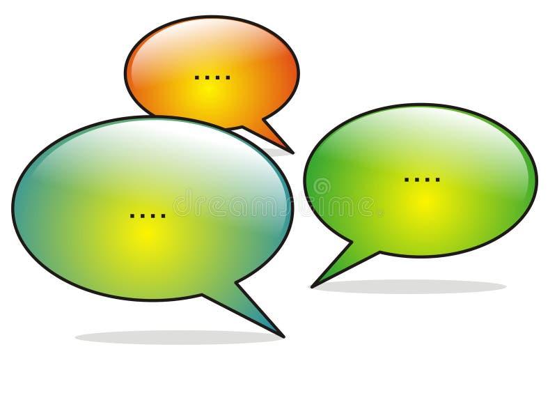 Conversation sociale de medias illustration libre de droits