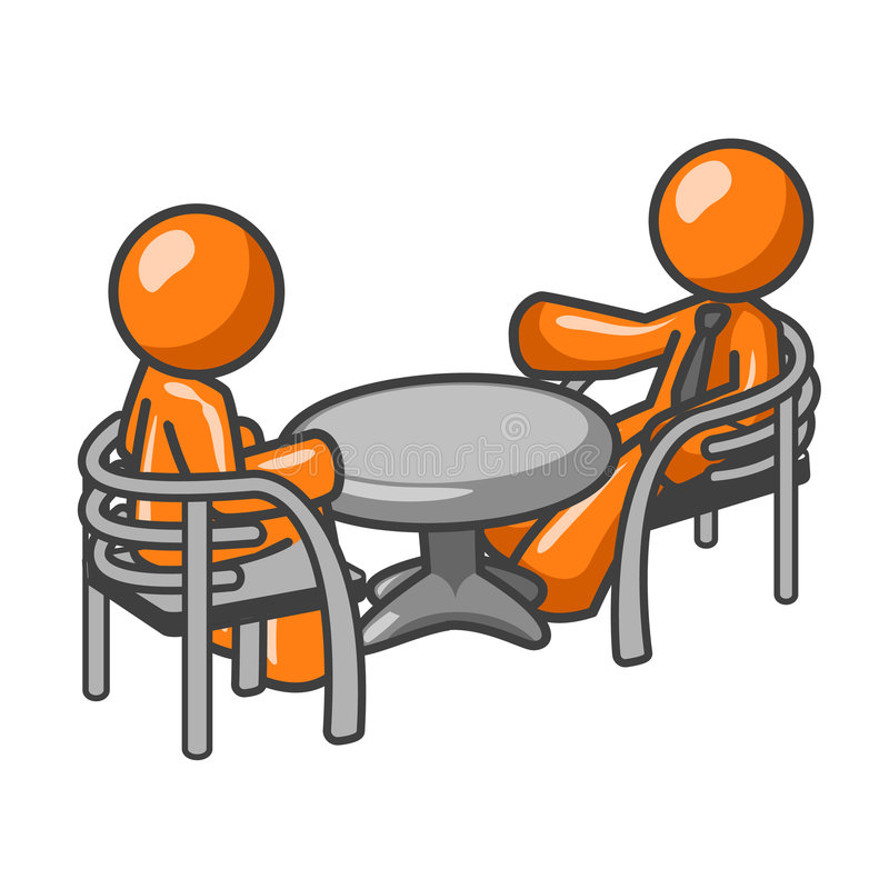 Download Conversation at table stock vector. Image of mate, discussion - 3291533