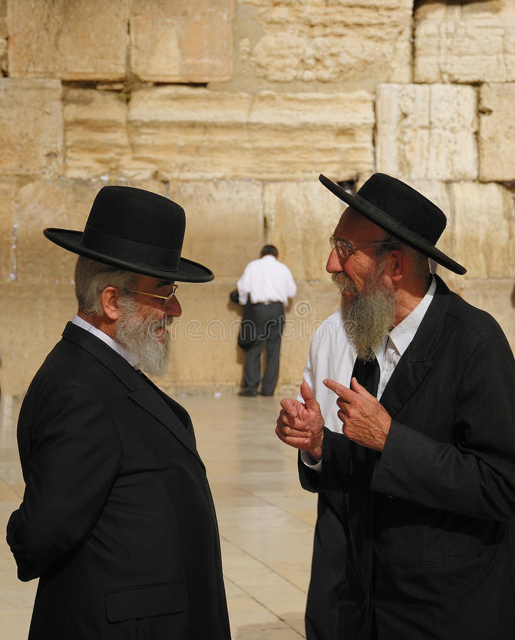 Conversation. The Temple Mount is the holiest site in Judaism and is the place to which Jews turn during prayer, and the Western Wall is considered holy due to royalty free stock photos