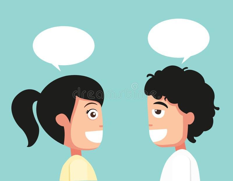 Conversation typique, vecteur illustration de vecteur