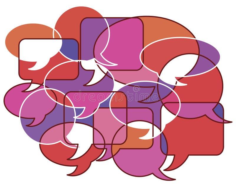 Conversations chaudes illustration de vecteur