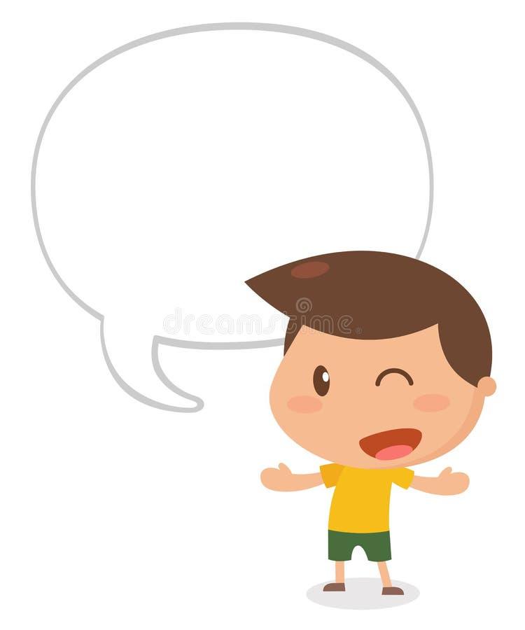 Conversazione del bambino illustrazione di stock