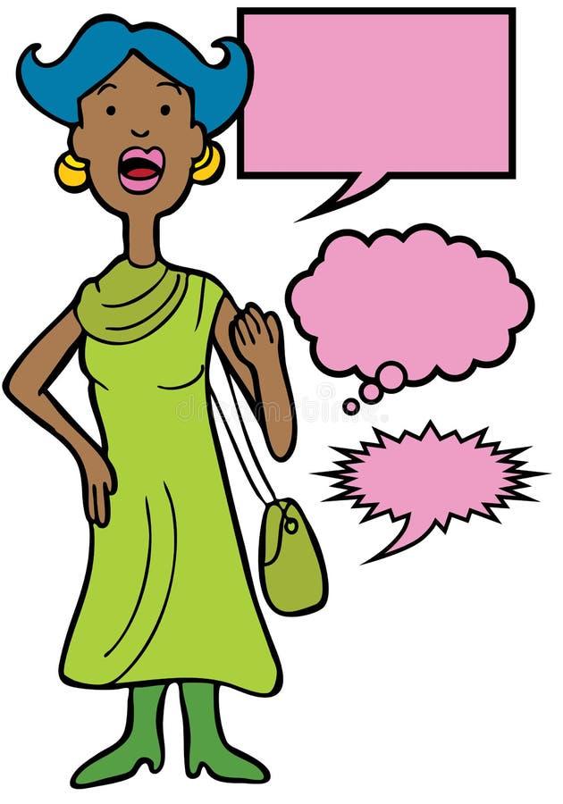 Conversazione della donna illustrazione vettoriale