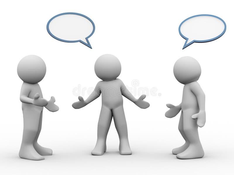 conversazione della gente 3d illustrazione di stock