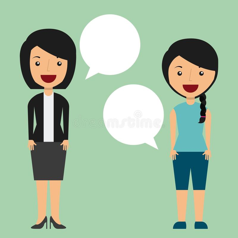 Conversazione della gente royalty illustrazione gratis