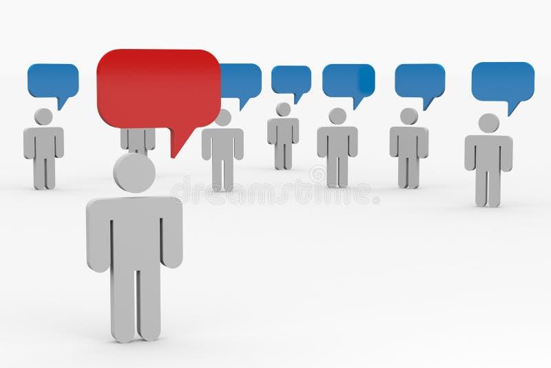 Conversazione della gente. Concetto di comunità globale. illustrazione vettoriale