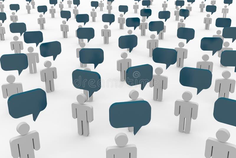 Conversazione della gente. Concetto di comunità globale. illustrazione di stock