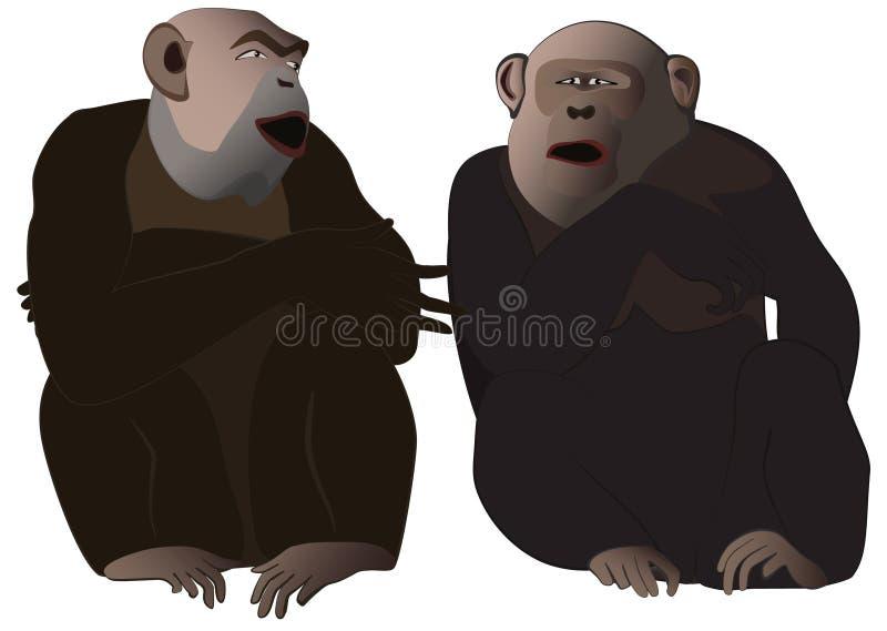 Conversazione della gorilla immagini stock