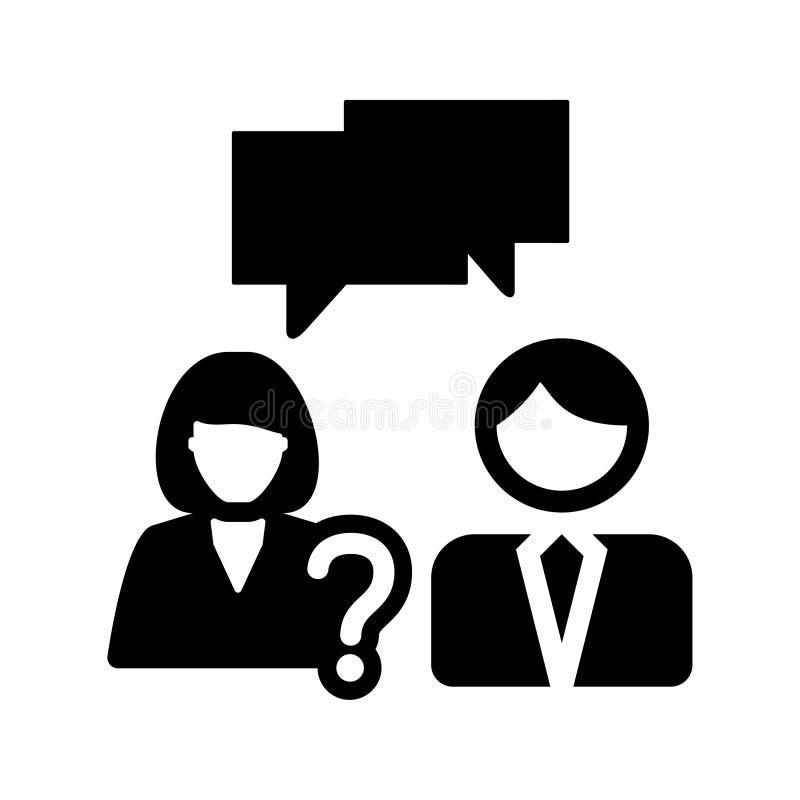 Conversazione di affari, icona di vettore di discussione illustrazione di stock
