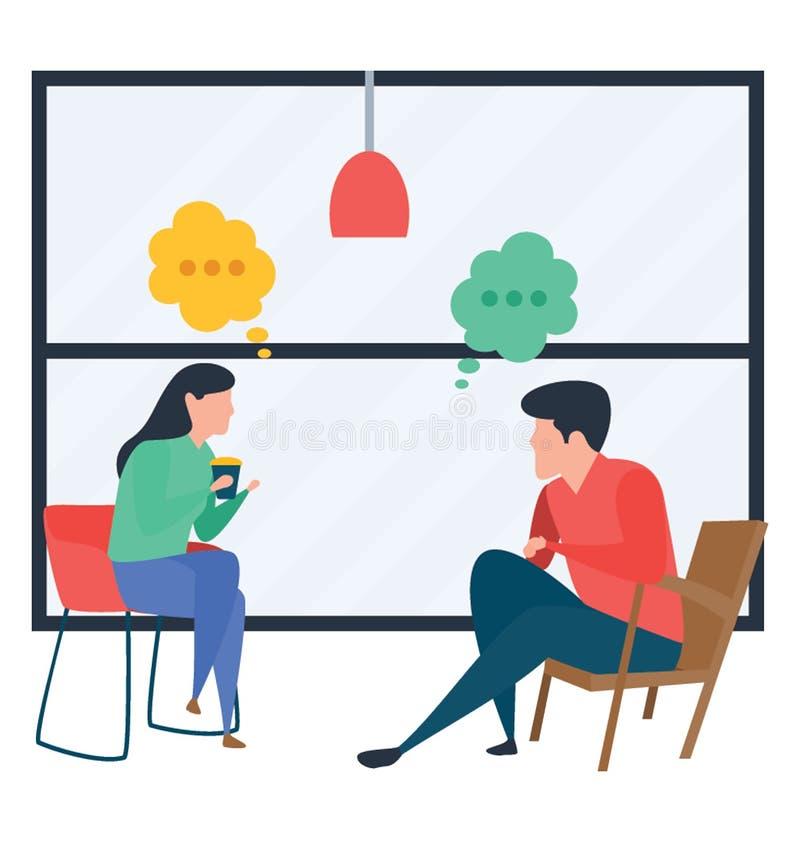 Conversazione illustrazione vettoriale