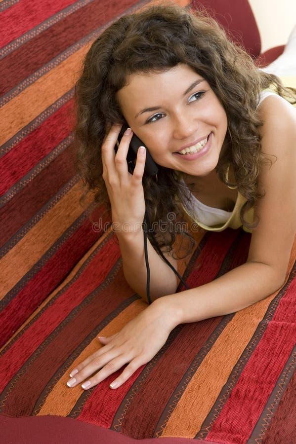 Conversazione telefonica immagini stock libere da diritti